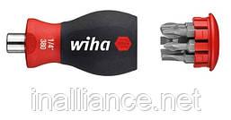 Отвертка укороченная SoftFinish с магнитным держателем бит PH / SL Slotted (шлиц) Wiha 33736