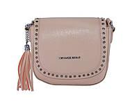 Женская сумка в стиле Michael Kors полыми заклепками (пудровая) № 3536