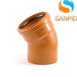 Колено для наружной канализации Wavin 110/22°