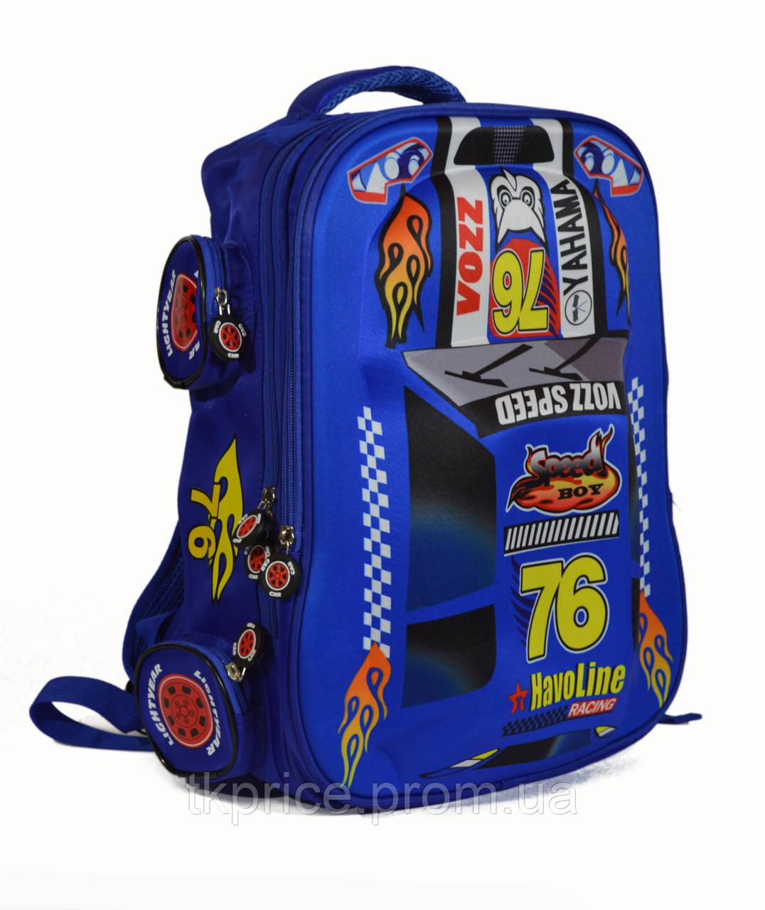 Школьный рюкзак для мальчика с3Д машинкой