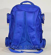 Школьный рюкзак для мальчика с3Д машинкой, фото 3