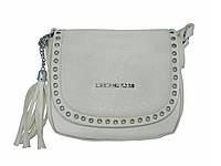 Женская сумка в стиле Michael Kors полыми заклепками (белая) № 3536