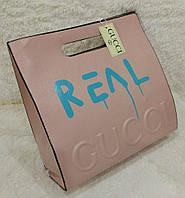 "Стильная сумка-пакет ""REAL"" от Gucci. Цвета в ассортименте. Материал: эко-кожа."