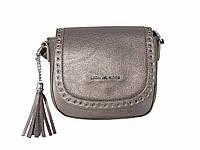 Женская сумка в стиле Michael Kors полыми заклепками (черненое серебро) № 3536