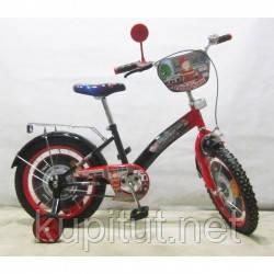 """Детский Велосипед TILLY Пожарник 16"""" T-21627 black + red"""