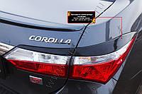 Накладки на задние фонари (реснички) Toyota Corolla (седан) 2012-2015