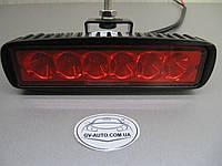 Cветодиодная фара дальнего света LED 2218-18W красная