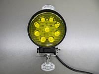 Дополнительные светодиодные фары LED 1205-27W жёлтого света, фото 1