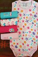 Набор из 5 штук бодики майка для девочки из США
