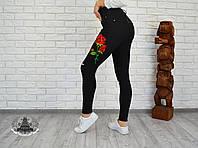 """Черный джинс """" Роза """" 2112-50"""