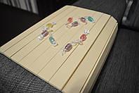 Деревянная накладка, столик, деревянный коврик на подлокотник дивана (беж) #2i2ua