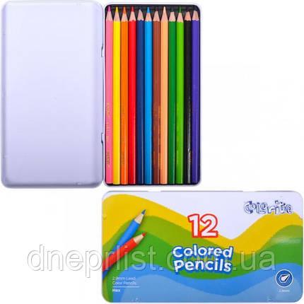 Олівці кольорові 12 кол., MARCO Colorite (1100-12TN), фото 2