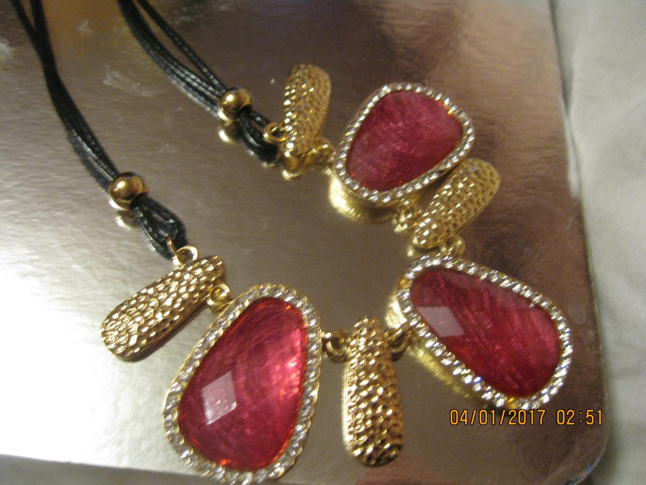 БИЖУТЕРИЯ колье бусы ожерелья под золото с розовым новые стильные модные украшения