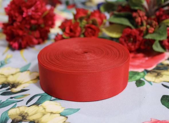 Лента шелковая красная 25 мм, фото 2
