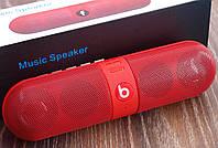 Колонка портативная Monster Beats Pill Красная Bluetooth Mp3 MicroSD