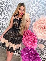 Красивое вечернее платье с дорогим кружевом