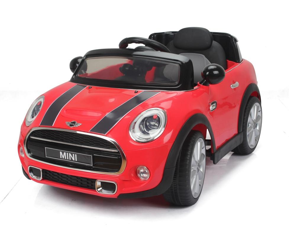 Детский электромобиль T-7910 Mini Cooper Красный