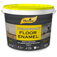 """Эмаль акриловая для деревянных и бетонных полов TM """"Maxima"""" (Серая RAL 7037) 0,9 л"""