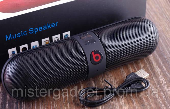 Колонка портативная Monster Beats Pill Черная Bluetooth Mp3 MicroSD USB, фото 2