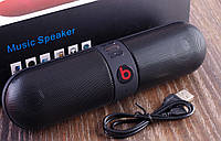 Колонка портативная Monster Beats Pill Черная Bluetooth Mp3 MicroSD USB