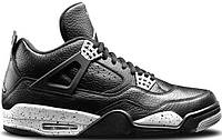 "Кроссовки Jordan 4 Retro ""Black Leather"""