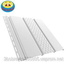 Панель софит перфорированная | 1.22 кв.м (4x0,31)| Белый | Bryza