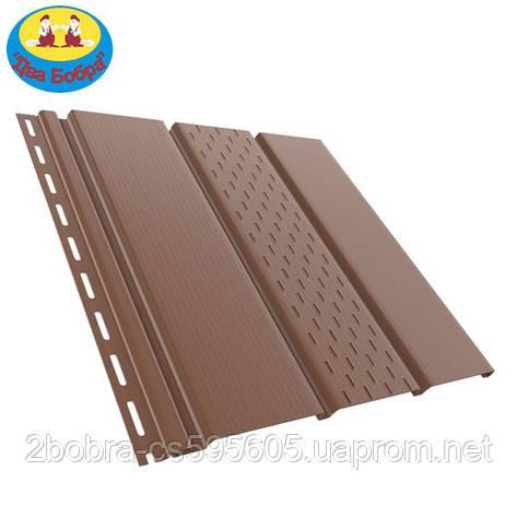 Панель софит перфорированная | 1.22 кв.м (4x0,31)| Коричневый | Bryza, фото 2