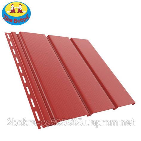 Панель софит | 1.22 кв.м (4x0,31) | Красный | Bryza, фото 2