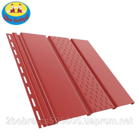 Панель софит перфорированная | 1.22 кв.м (4x0,31)| Красный | Bryza