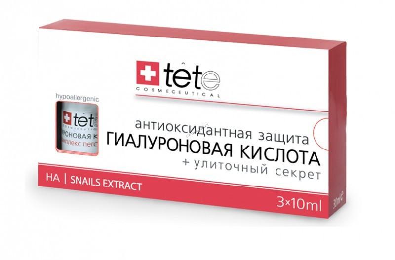 Tete Cosmeceutical Гиалуроновая кислота + Улиточный Секрет / Hyaluronic Acid + Snail Extract  3*10 мл