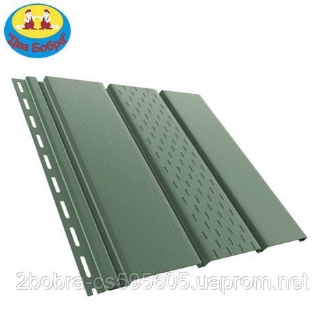 Панель софит перфорированная | 1.22 кв.м (4x0,31)| Зеленый | Bryza, фото 2