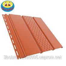Панель софит перфорированная | 1.22 кв.м (4x0,31)| Кирпичный | Bryza