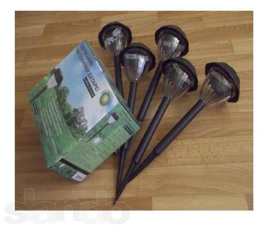 Садовые светильники на солнечной батарее (набор 5 шт.)