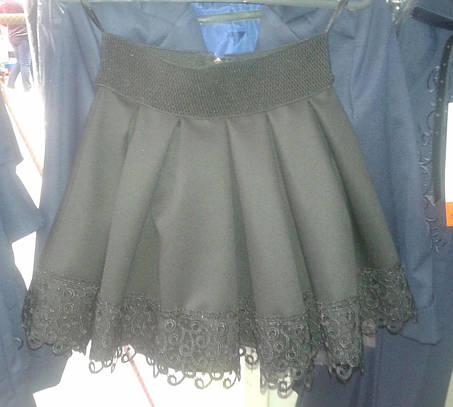 Школьная юбочка с кружевом, фото 2