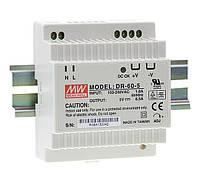 Блок питания Mean Well DR-60-24 На DIN-рейку 60 Вт, 24 В, 2.5 А (AC/DC Преобразователь)