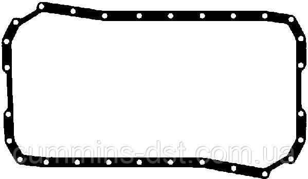 Прокладка поддона на двигатель Cummins серии 4B, 4BT, 4BTA.