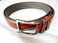 Мужской ремень с.коричневый с прошивкой 4 см — купить оптом в одессе 7км
