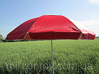 Зонт торговый пляжный  2,65 м дм 12 спиц с клапаном, однотонный - красный,синий,зеленый