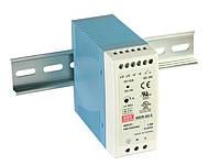 Блок живлення Mean Well MDR-60-24 На DIN-рейку 60 Вт, 24 В, 2.5 А (AC/DC Перетворювач)