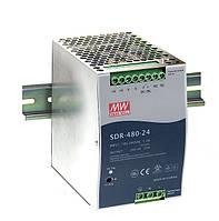Блок питания Mean Well SDR-480-24 На DIN-рейку 480 Вт, 24 В, 20 А (AC/DC Преобразователь)