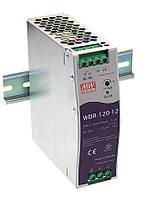 Блок живлення Mean Well WDR-120-12 На DIN-рейку 120 Вт, 12 В, 10 А (AC/DC Перетворювач)