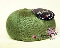 Пряжа Ангора фине Сеам, №180130, оливковый