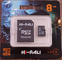 Карта памяти MicroSD 8Gb HI-RALI 4 Класс, SD карта на 8ГБ