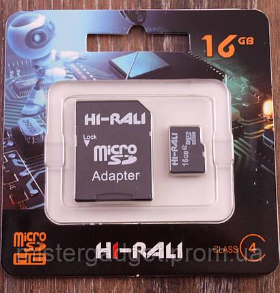 Карта памяти HI-RALI MicroSD 16Gb 4 Класс, фото 2
