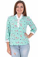 Блуза Veron 03008 Бирюзовый
