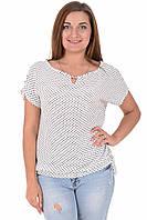 Блуза Veron 03007-4 Белый,черный