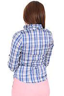 Блуза Believe 5754-3 Серый,голубой, фото 1