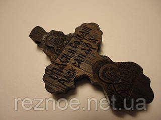Крест нательный резной (с иконами)