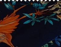 Ткань штапель принт 3  колибри