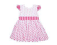 Платье Deva 9915 Белый,малиновый
